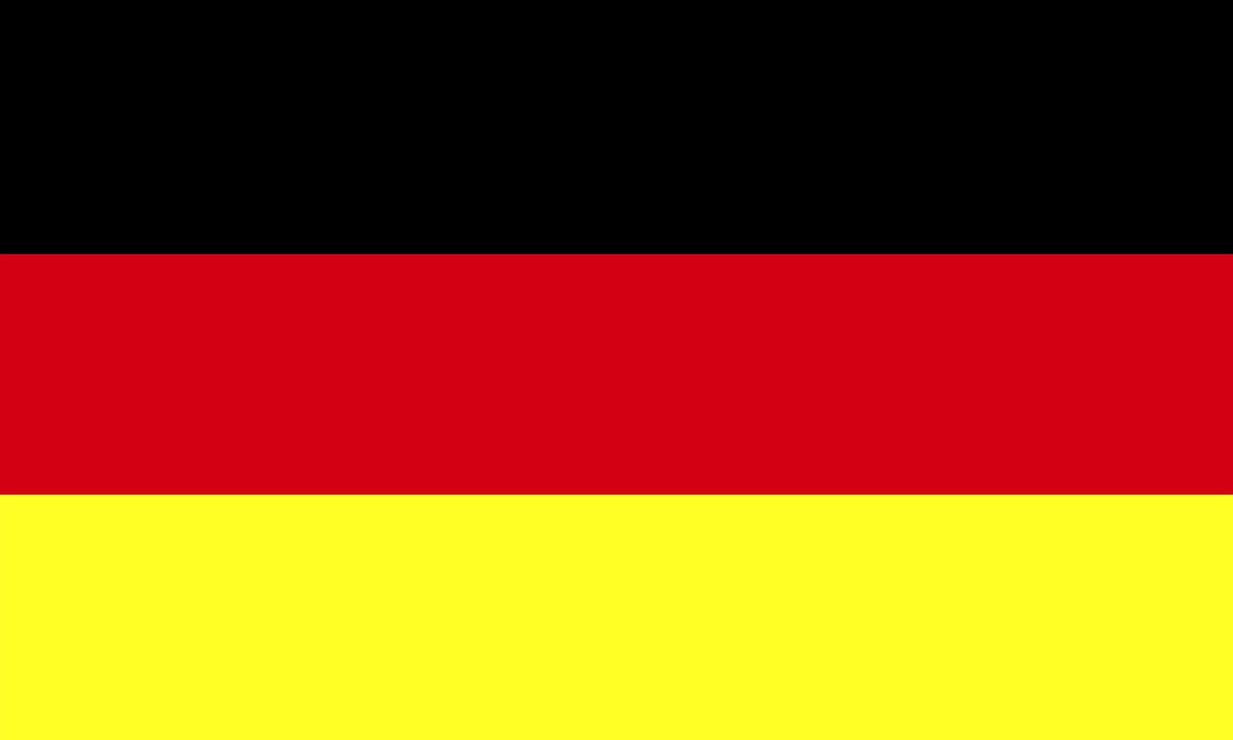 Aufkleber Deutschland-Flagge 60 x 100 mm Deutschland Fanartikel  – Bild 1