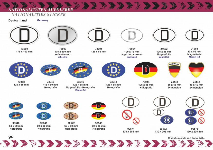 Aufkleber Deutschland-Flagge 60 x 100 mm Deutschland Fanartikel  – Bild 4