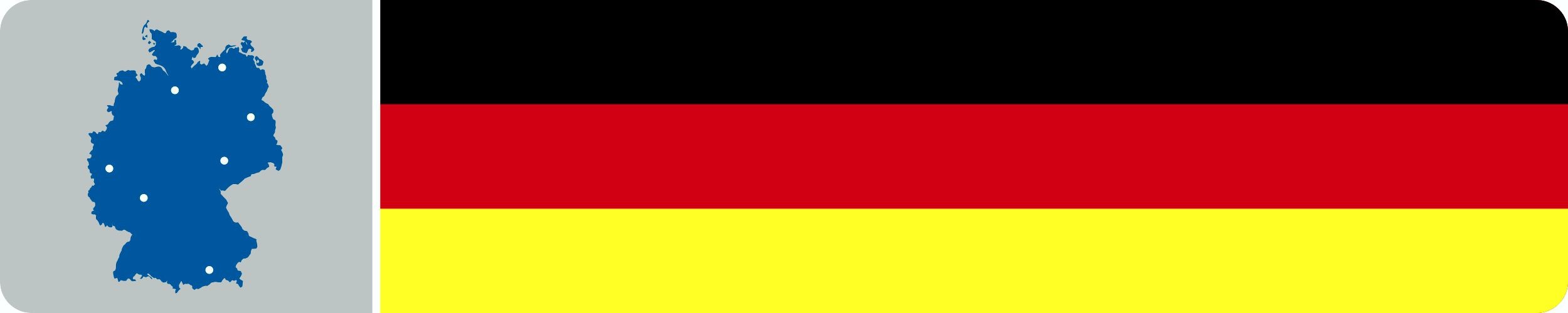 Aufkleber Deutschland mit Europa-Flagge Dimension 20 x 100 mm Deutschland Fanartikel – Bild 1