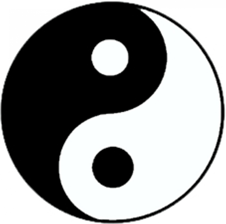 Aufkleber Yin-Yang - das Sinnbild vollendeter Harmonie.   Ø 60 mm – Bild 1