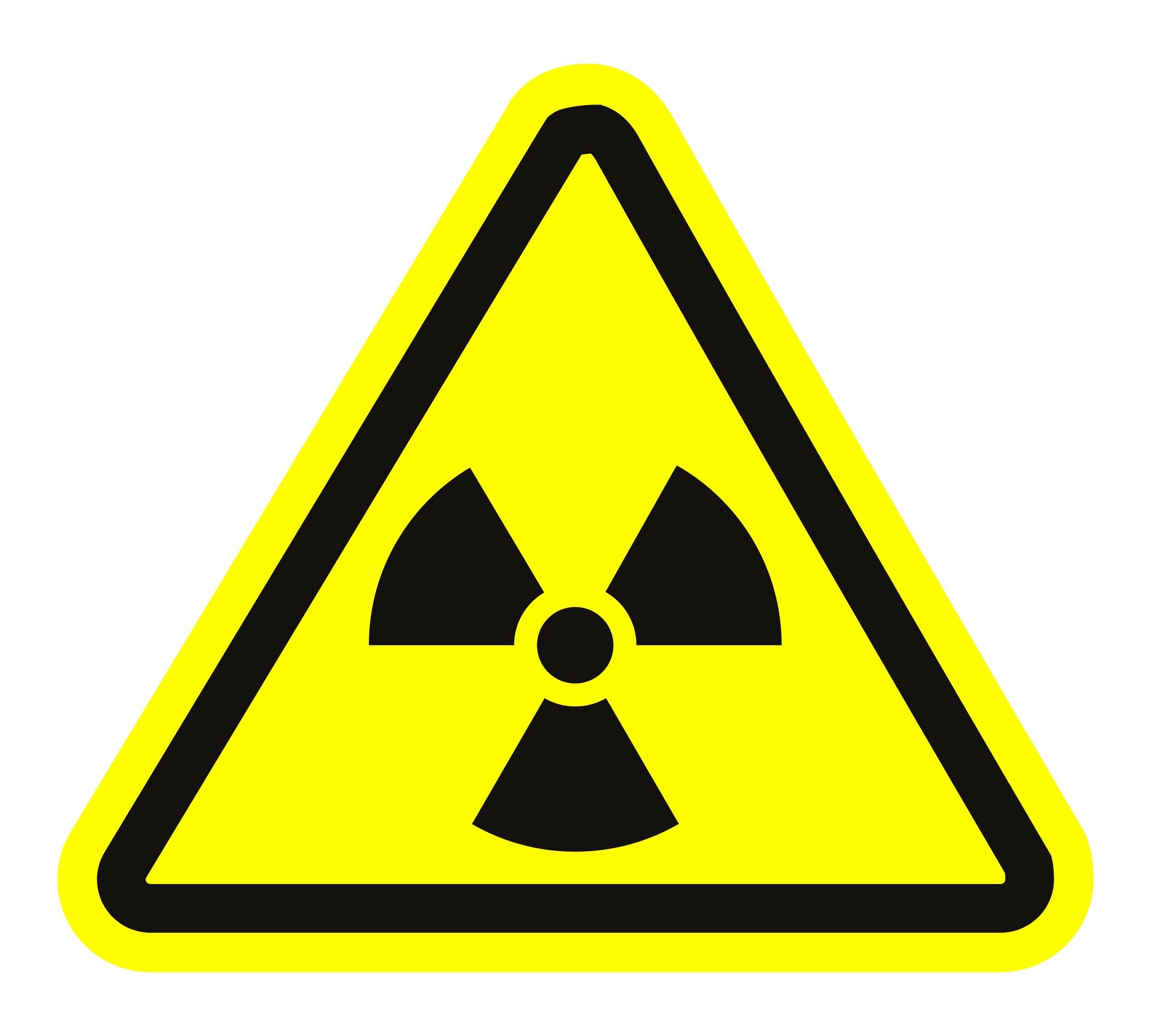 Aufkleber Radioaktive Strahlung dreieckig 70 x 80 mm – Bild 1