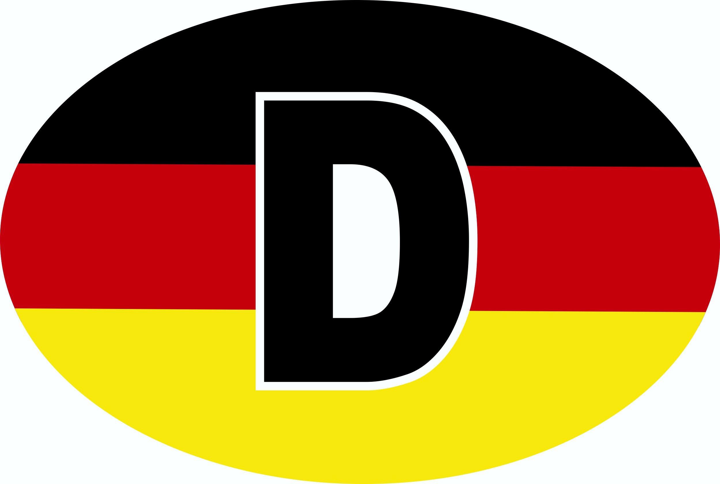 Aufkleber Deutschland-D schwarz-rot-gelb Dimension 50 x 75 mm Deutschland Fanartikel  – Bild 1
