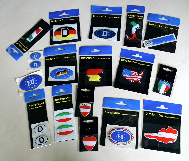 Sticker Europe-D with flag dimension 40 x 75 mm – Bild 2