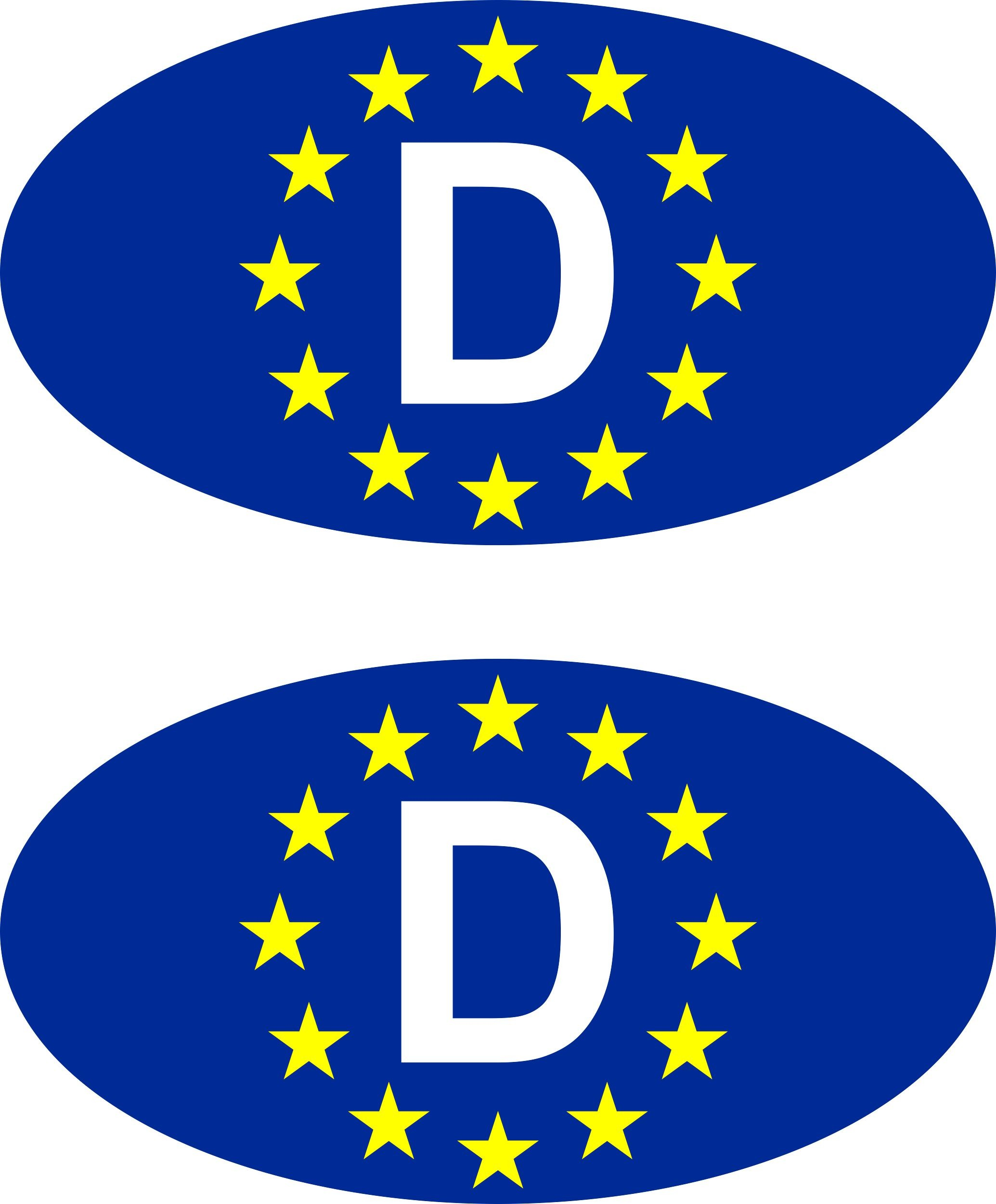 Aufkleber Europa-D Dimension 2er-Set je 25 x 40 mm  Fanartikel  – Bild 1