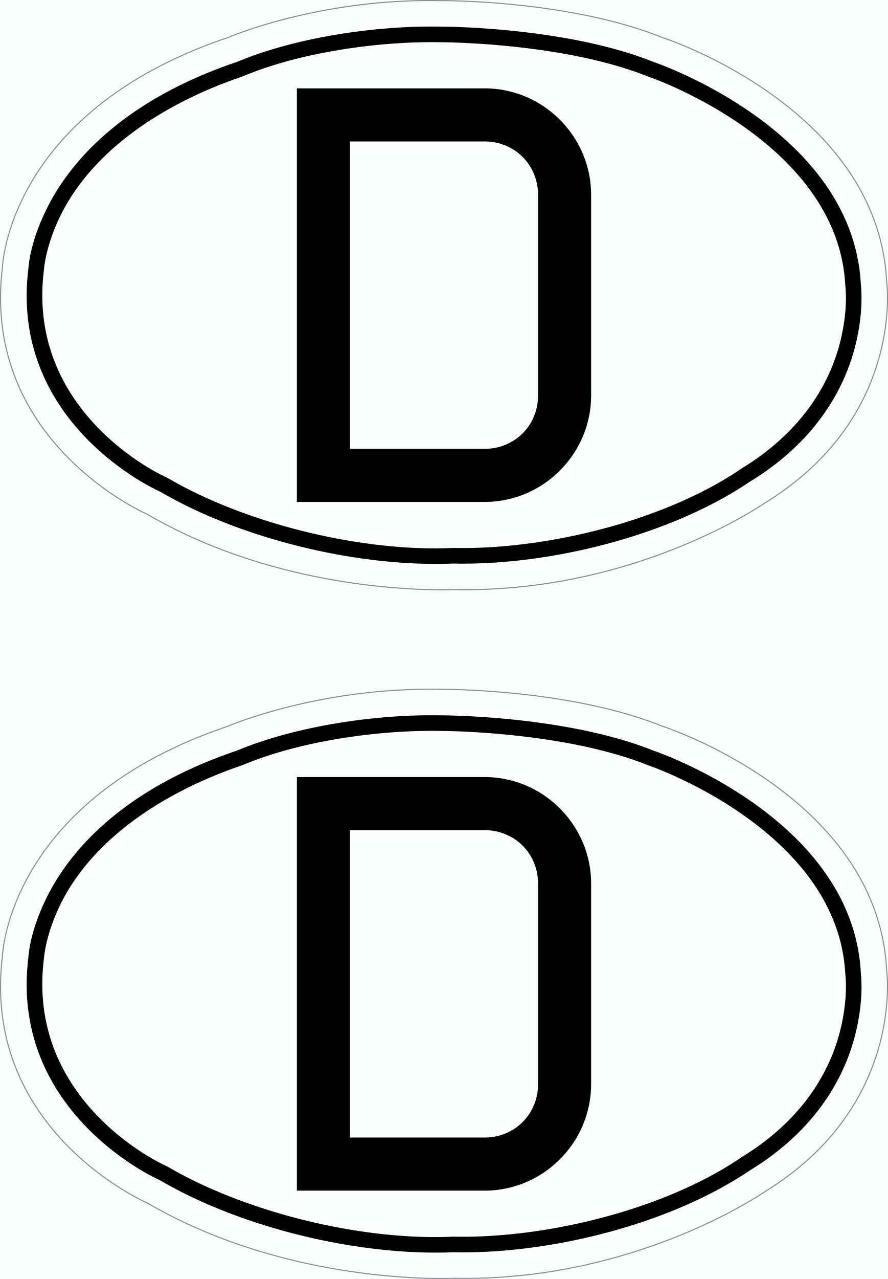 Aufkleber Deutschland-D Dimension 2er-Set je 25 x 40 mm Deutschland Fanartikel Olympia – Bild 1