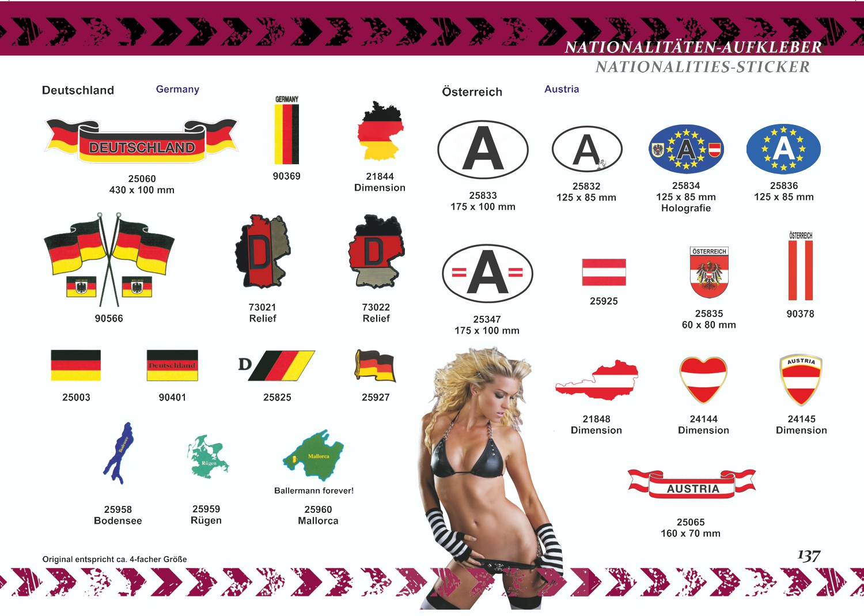 Aufkleber Deutschland Flaggen 3er-Set 310 x 210 mm Deutschland Fanartikel  – Bild 3