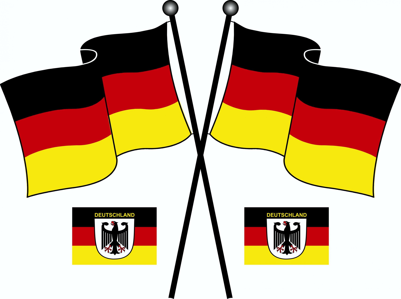 Aufkleber Deutschland Flaggen 3er-Set 310 x 210 mm Deutschland Fanartikel  – Bild 1