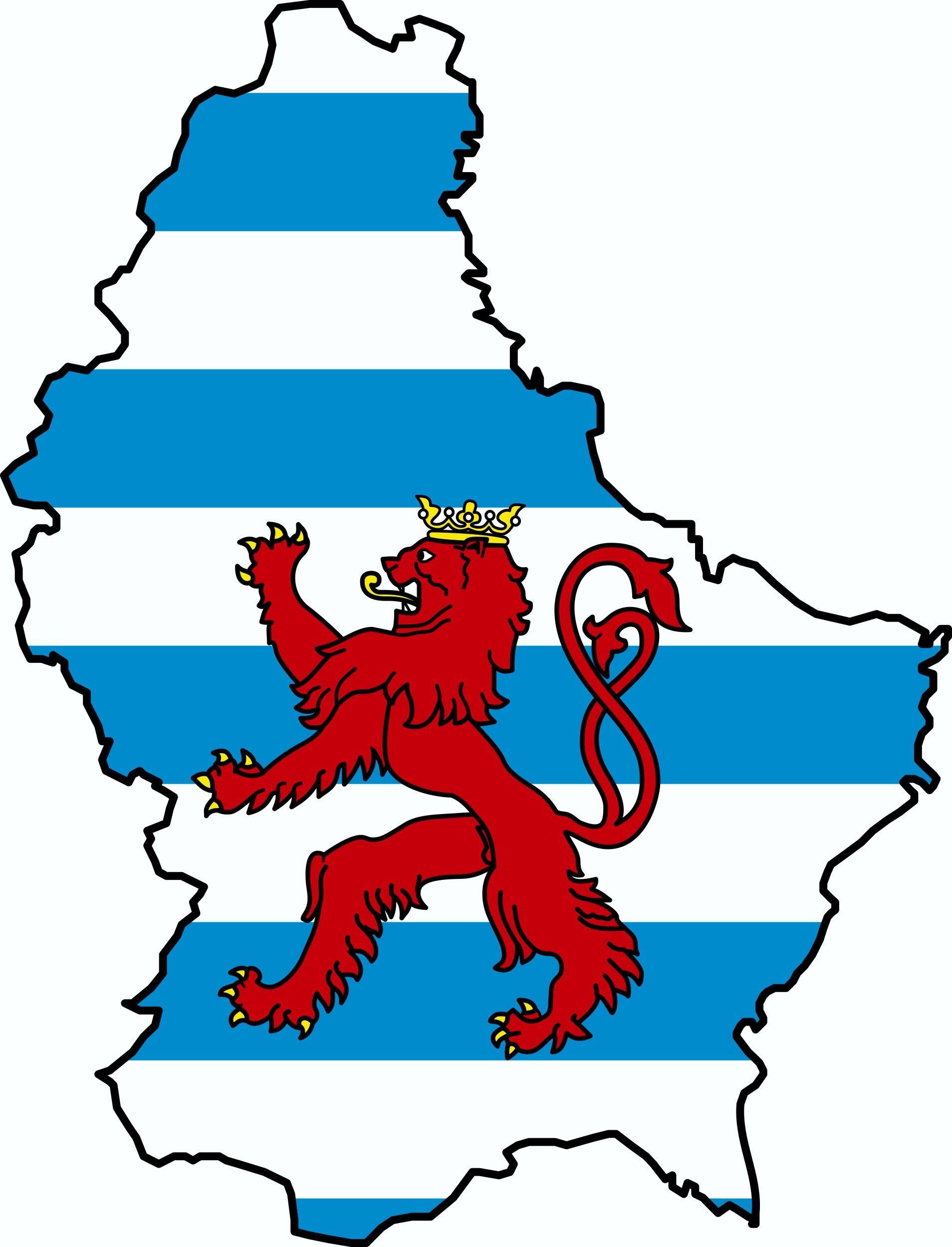 Aufkleber Luxemburg Landkontur Dimension 75 x 55 mm – Bild 1