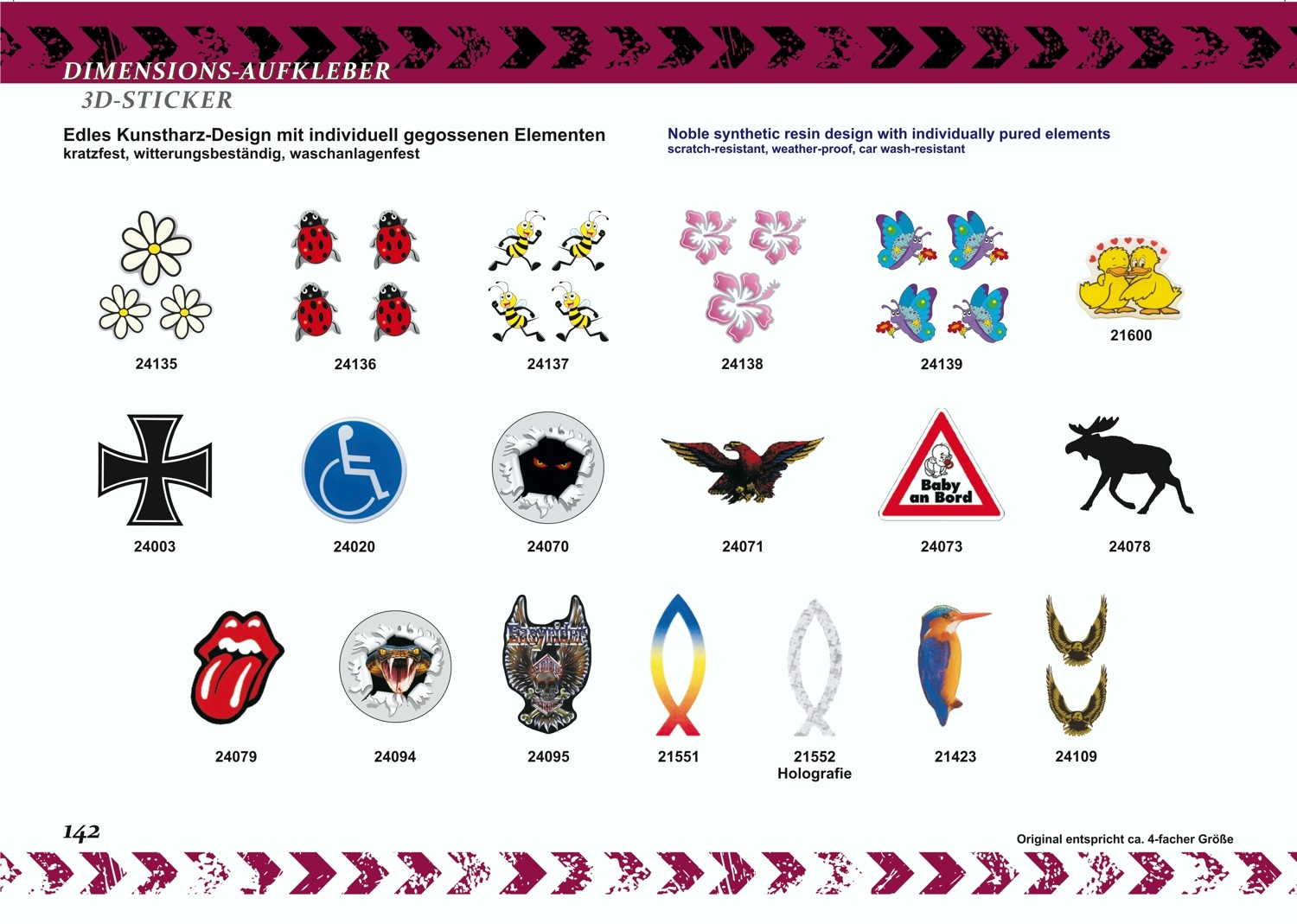 Sticker Europe with flags with key chain dimension 50 x 75 mm – Bild 5