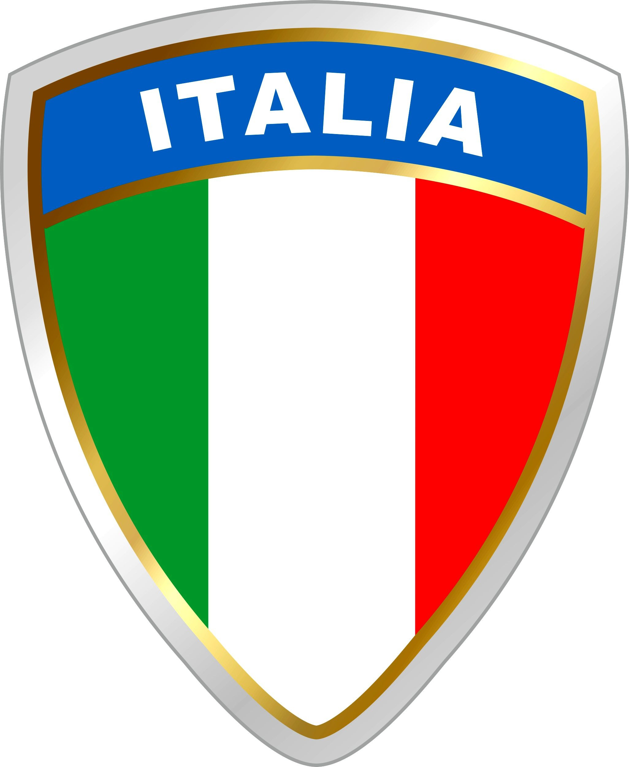 Sticker Italy crest dimension 45 x 35 mm – Bild 1