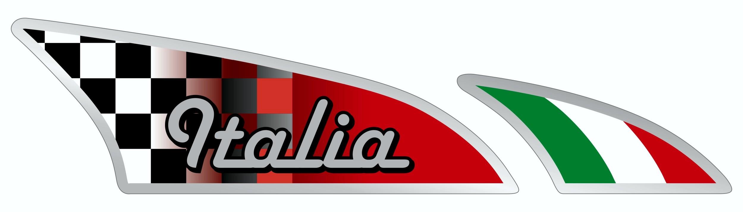 Aufkleber Racingflagge Italia rechts Dimension 2 tlg. 25 x 100 mm – Bild 1