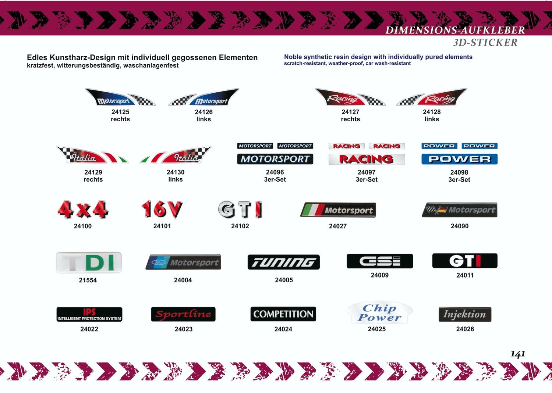 Aufkleber Racingflagge Italia rechts Dimension 2 tlg. 25 x 100 mm – Bild 4