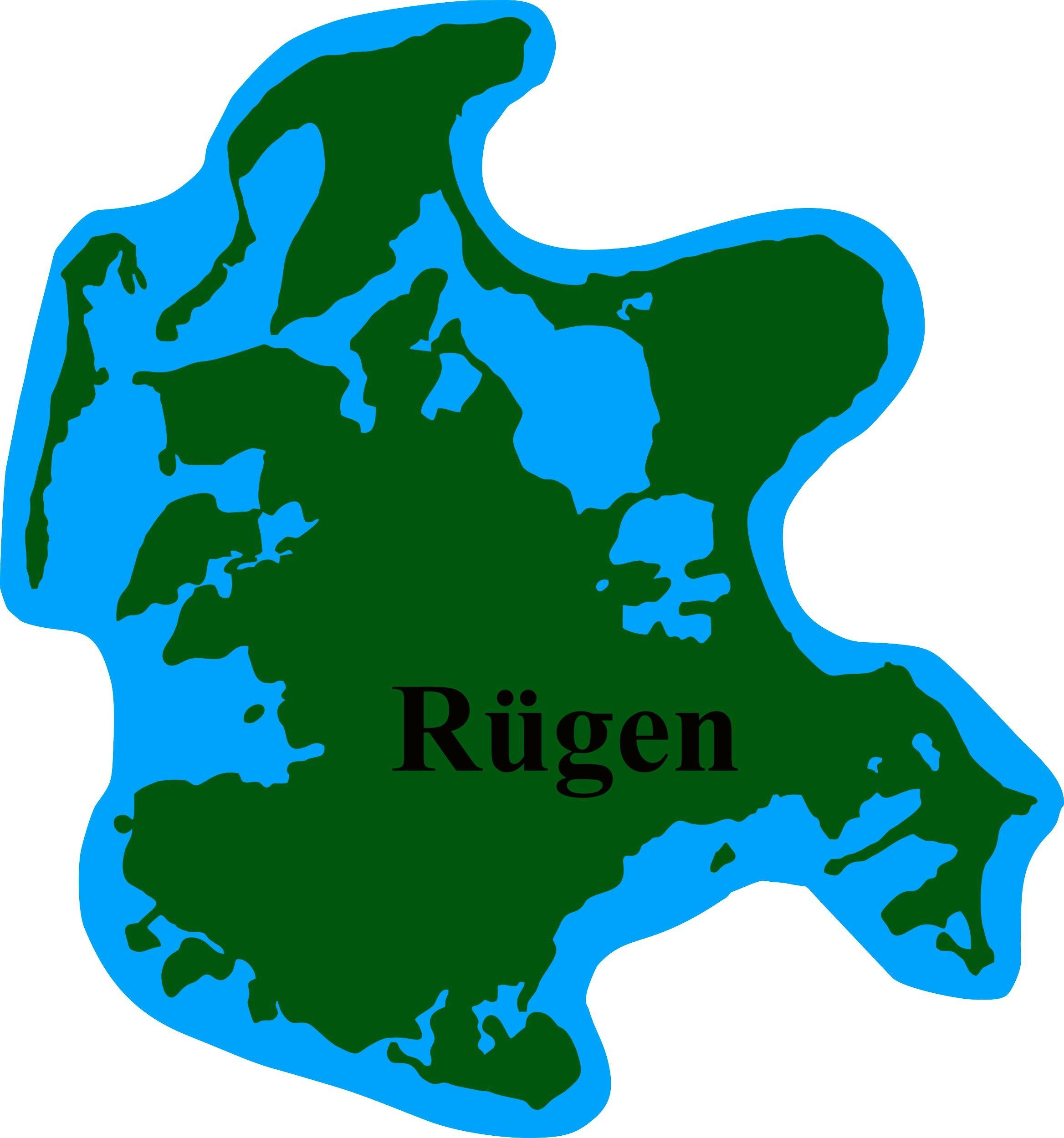 Aufkleber Rügen Landkontur 90 x 85 mm – Bild 1