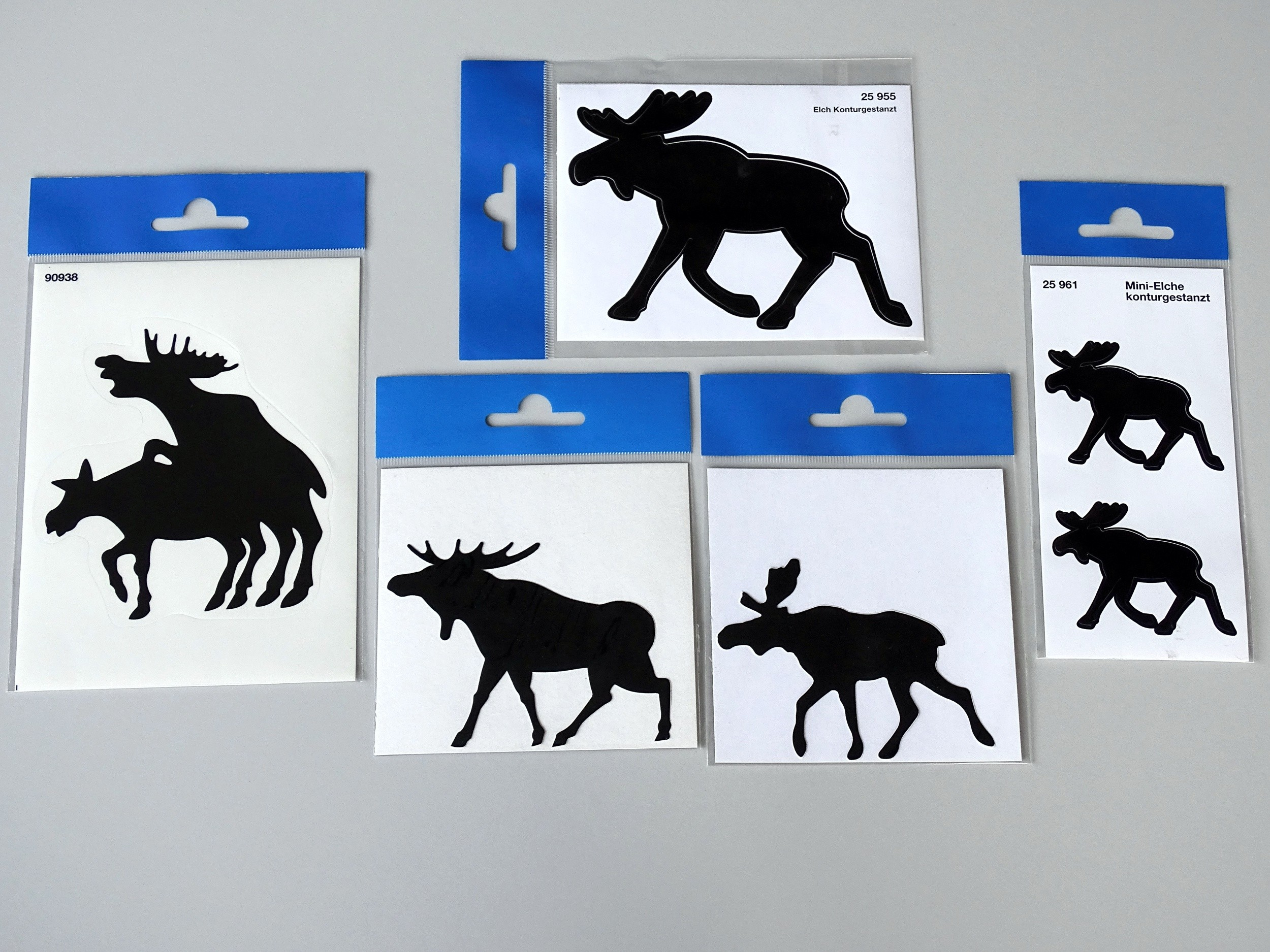Sticker moose dimension 60 x 80 mm – Bild 2