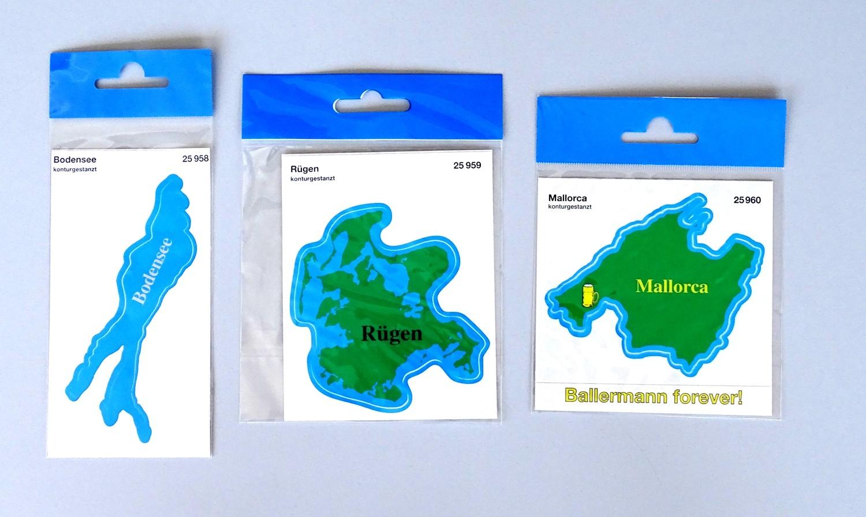 Aufkleber Mallorca Landkontur 80 x 95 mm – Bild 2