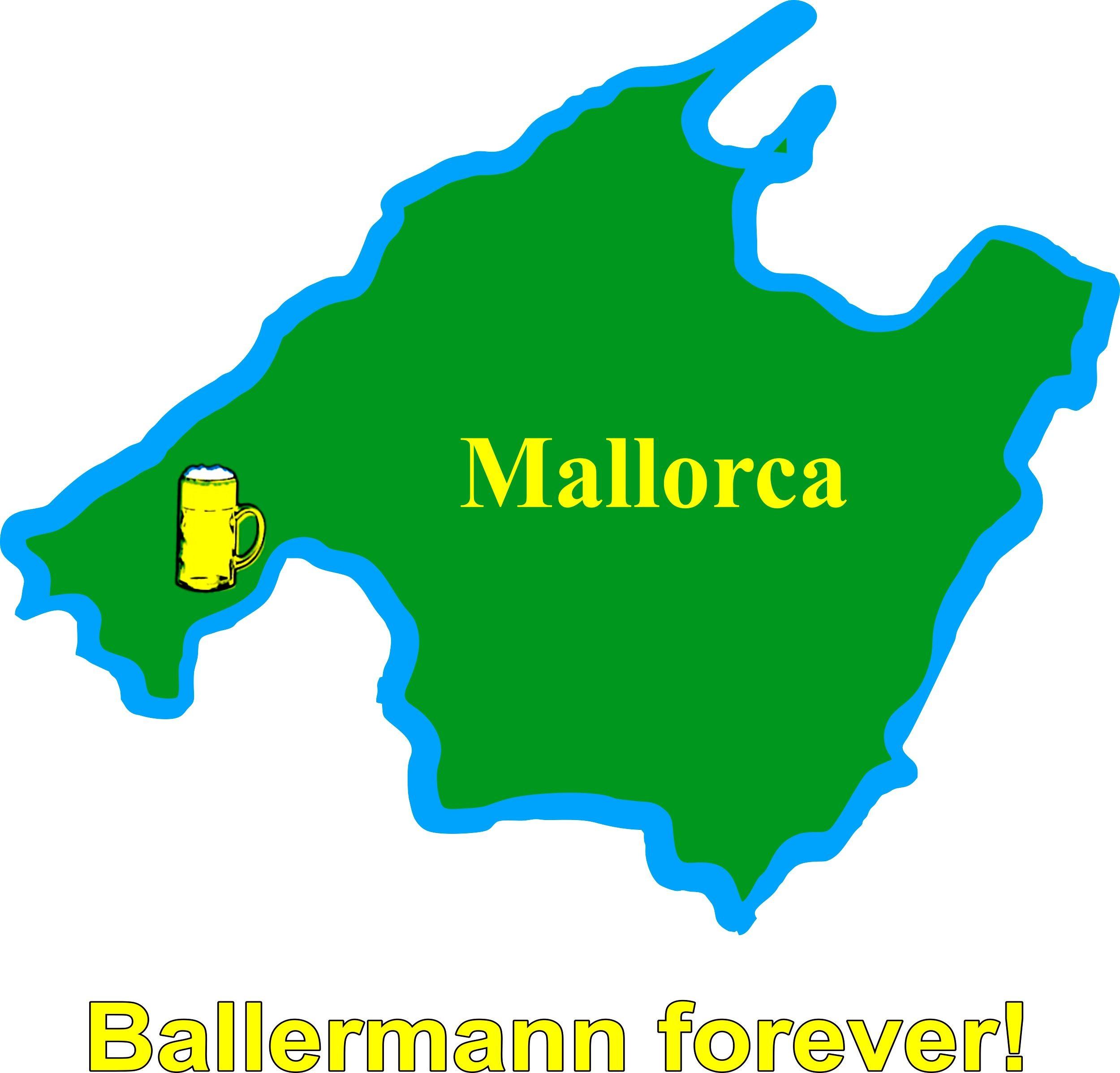 Aufkleber Mallorca Landkontur 80 x 95 mm – Bild 1