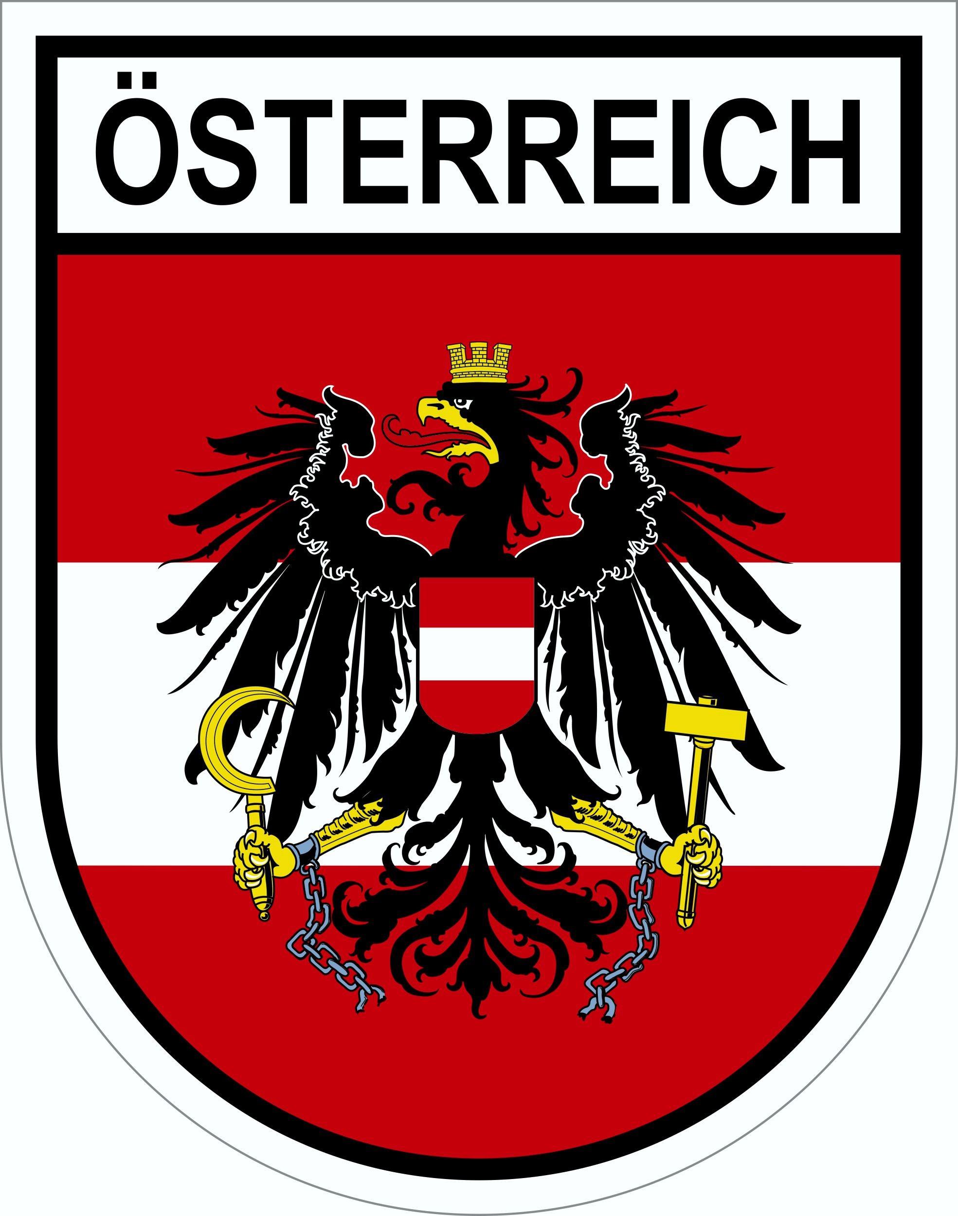 Aufkleber Wappen Österreich 80 x 65 mm 001
