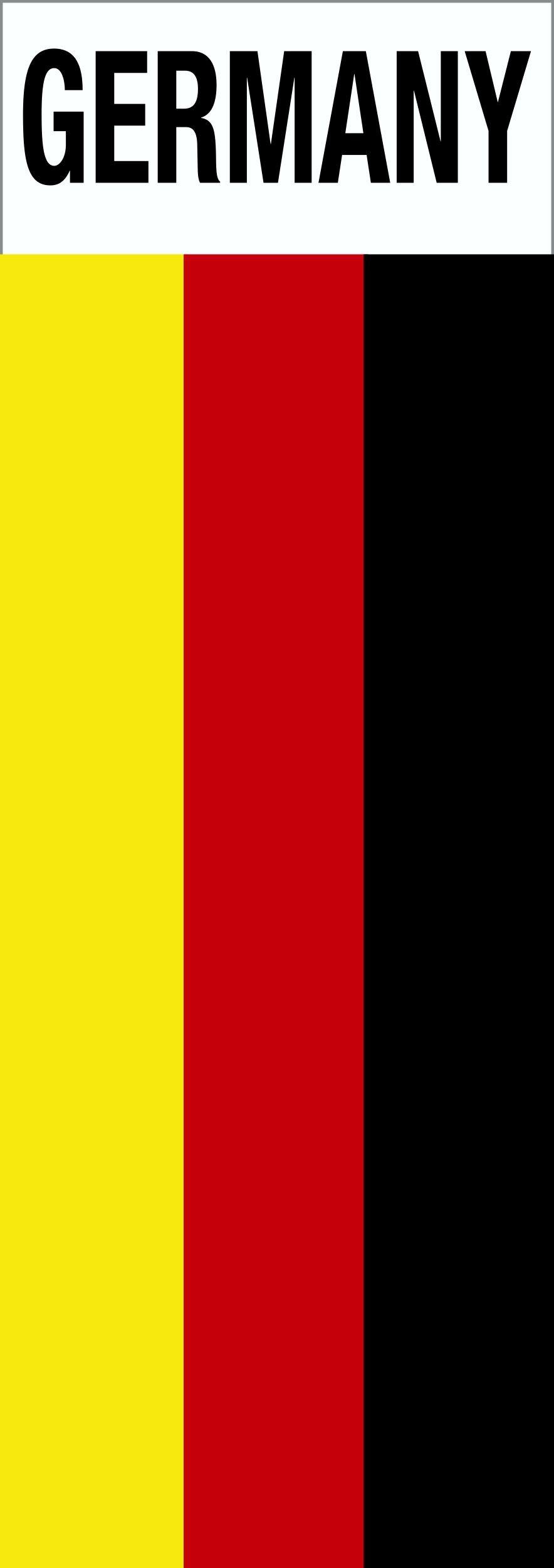 Autocollant drapeau avec écriture Germany 110 x 40 mm – Bild 1