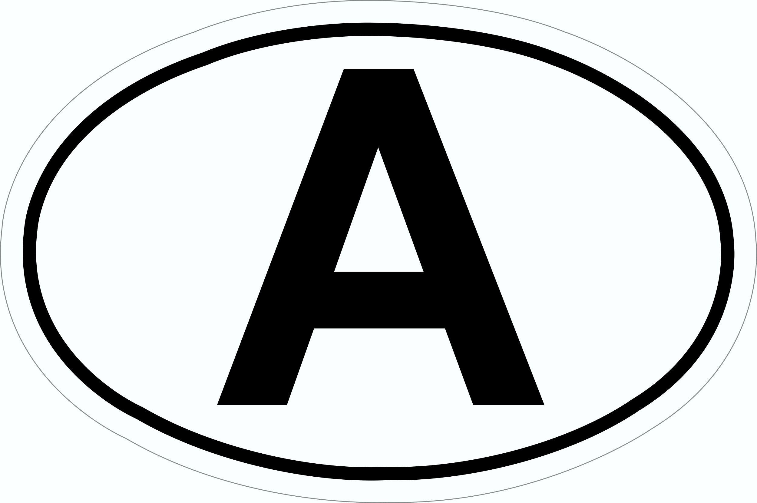 Aufkleber A-Schild 115 x 170 mm – Bild 1