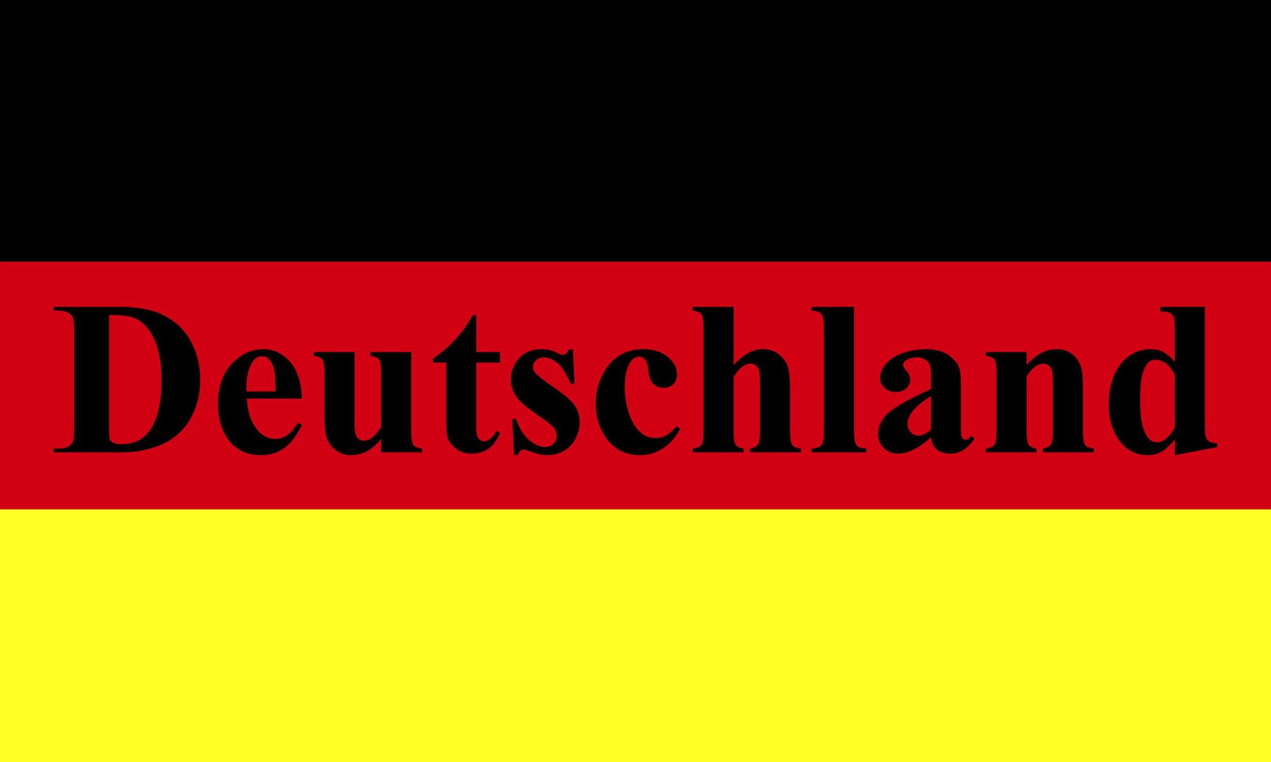 Aufkleber Deutschland-Flagge mit Schriftzug neon 60 x 100 mm Deutschland Fanartikel  – Bild 1