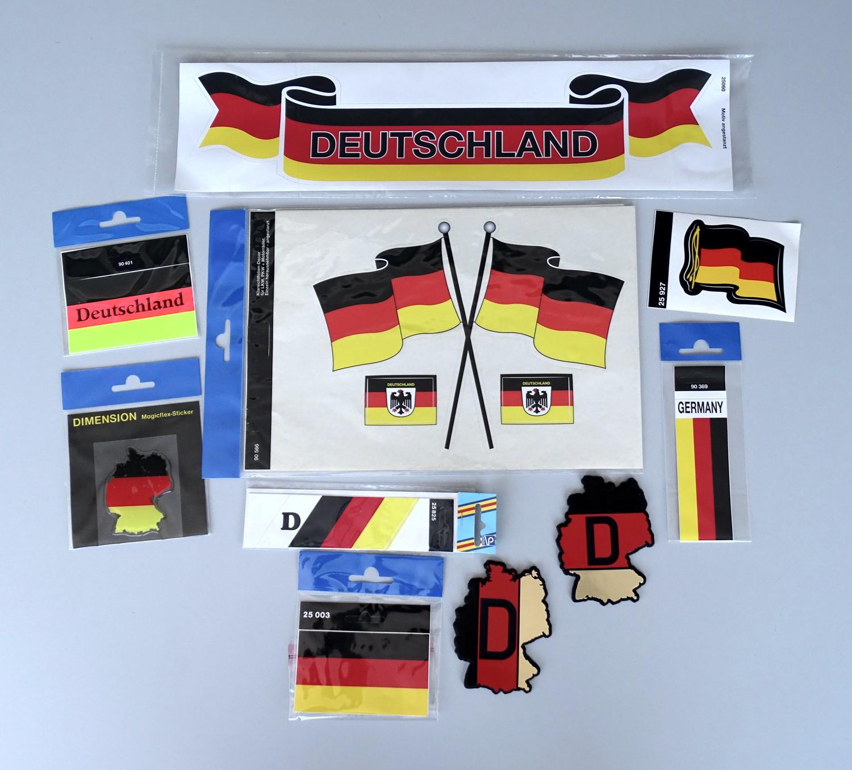 Aufkleber Deutsche Flagge 60 x 80 mm Deutschland Fanartikel  – Bild 2