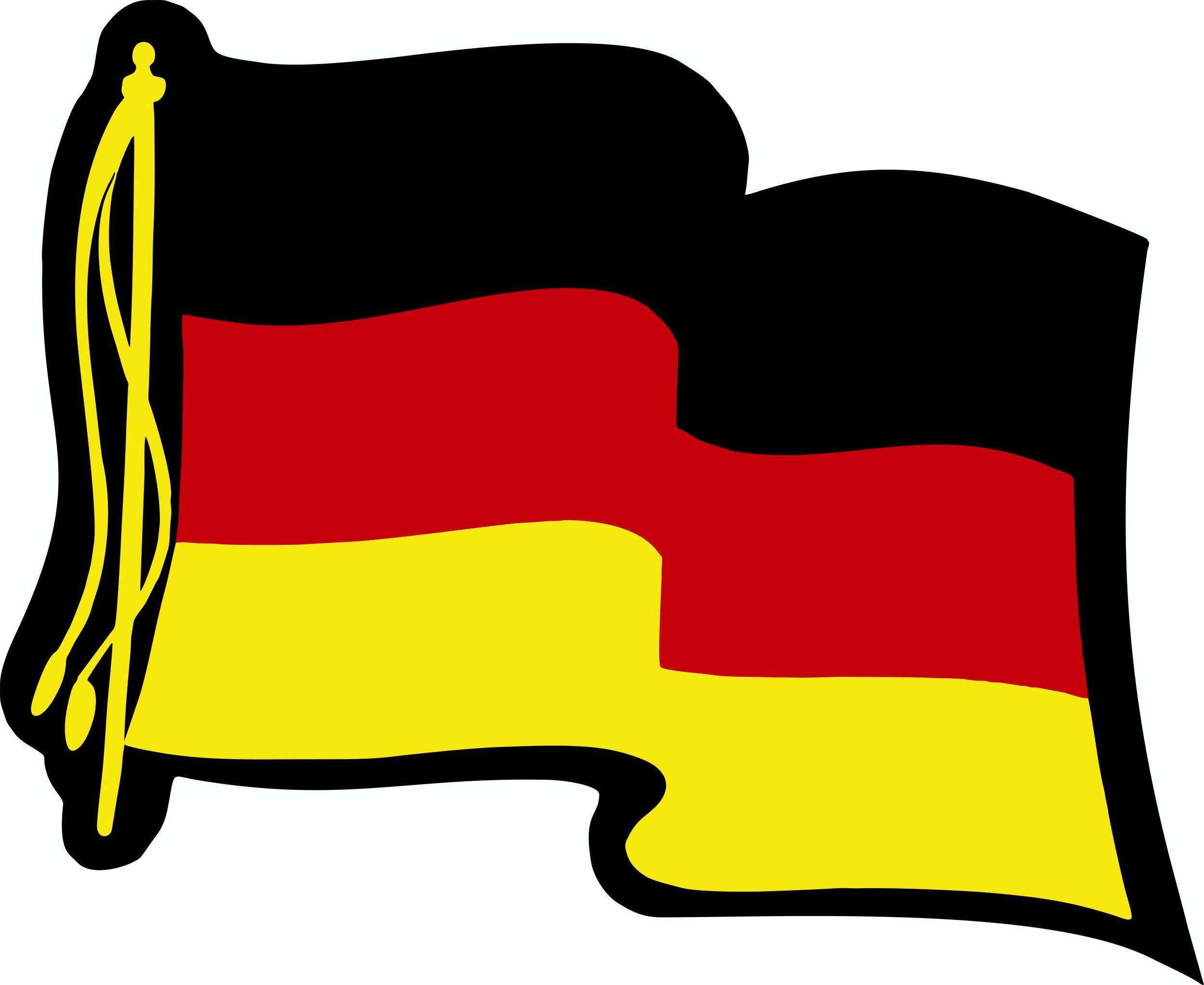 Aufkleber Deutsche Flagge 60 x 80 mm Deutschland Fanartikel  – Bild 1