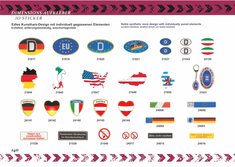 Aufkleber Deutschland-D 40 x 120 mm Deutschland Fanartikel – Bild 6