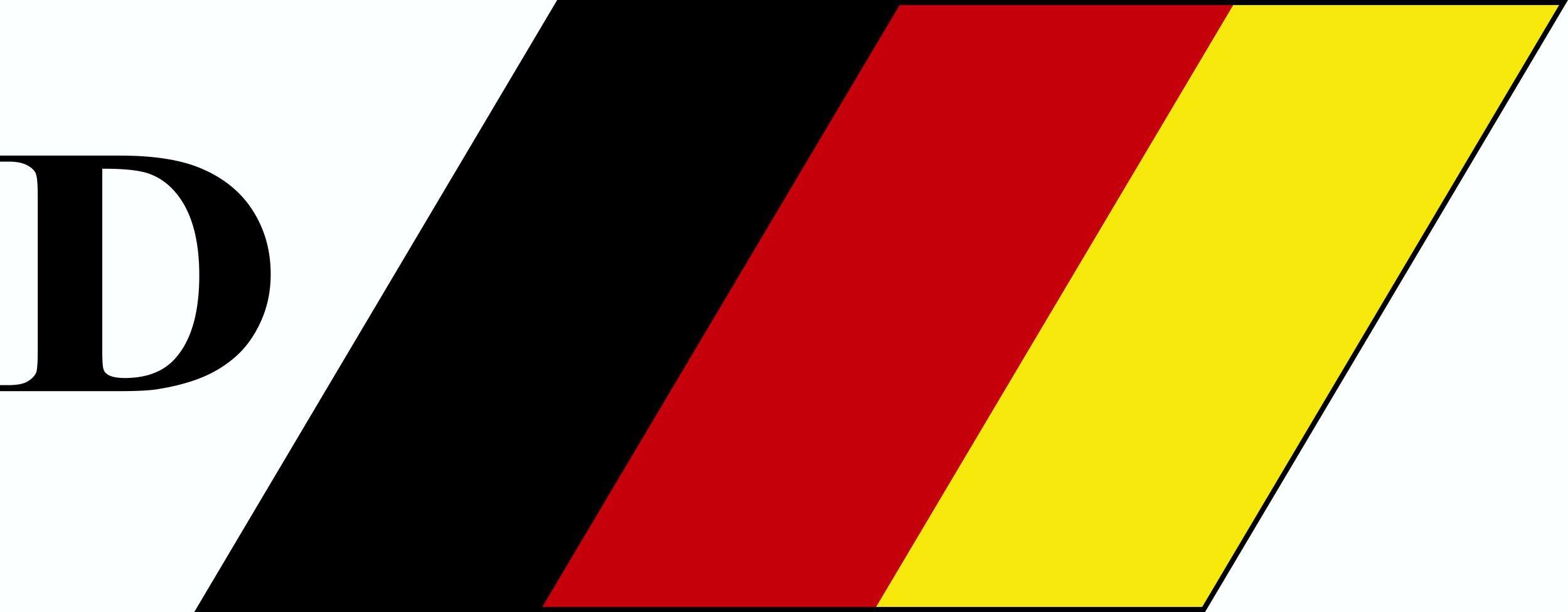 Aufkleber Deutschland-D 40 x 120 mm Deutschland Fanartikel – Bild 1