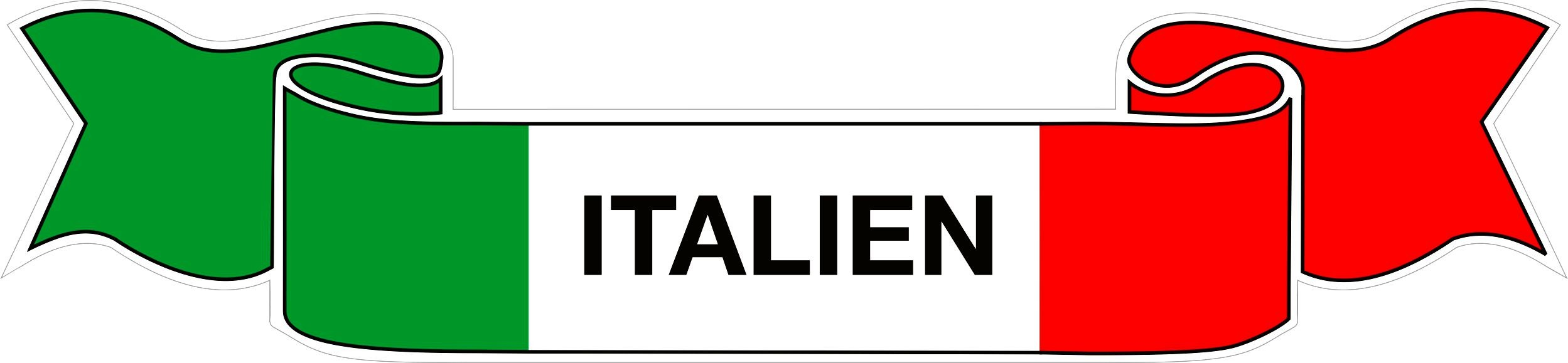Aufkleber Flagge Italien 35 x 150 mm Deutschland Fanartikel Olympia – Bild 1