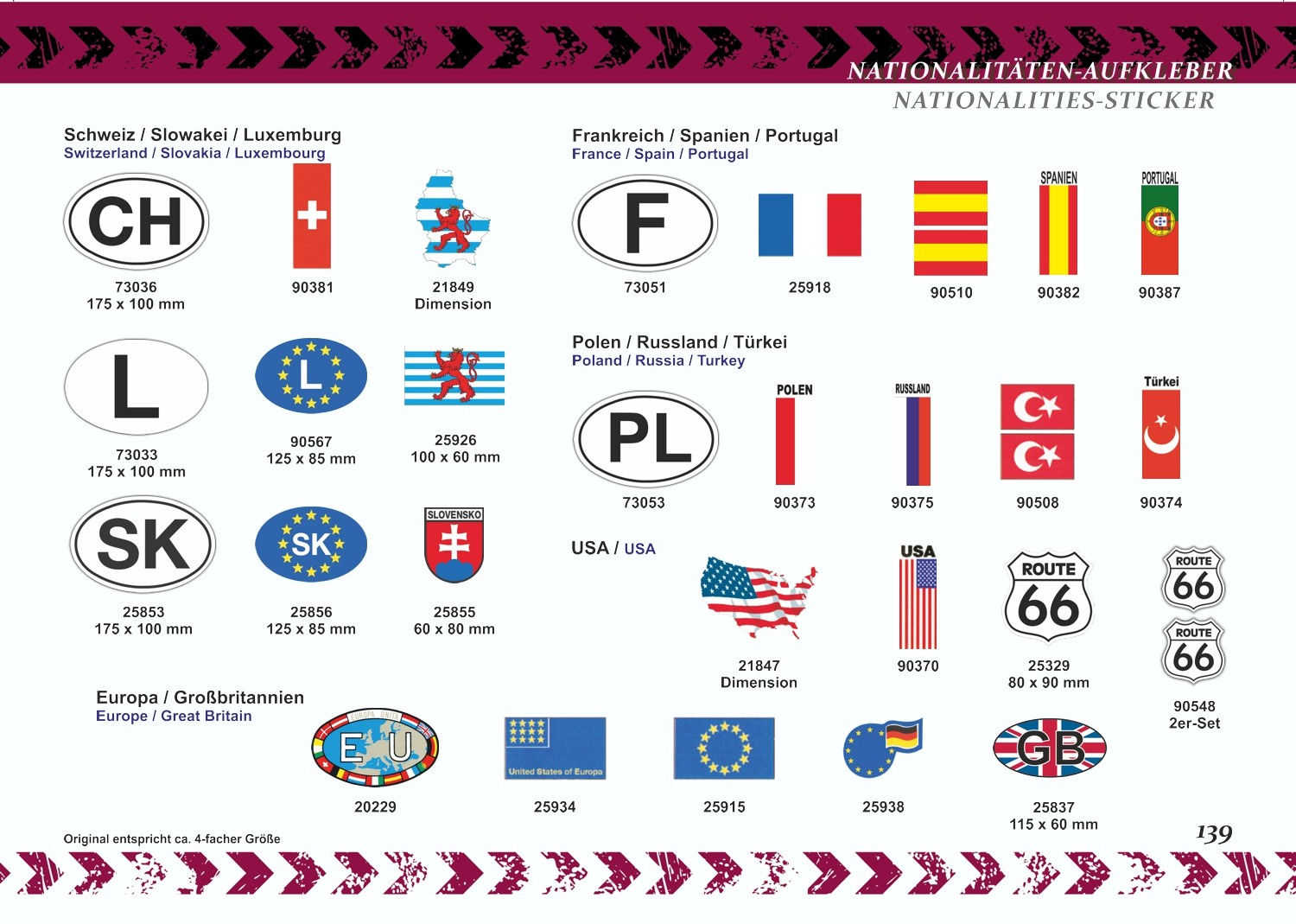 Sticker Flag Italy set of 3 310 x 210 mm – Bild 5