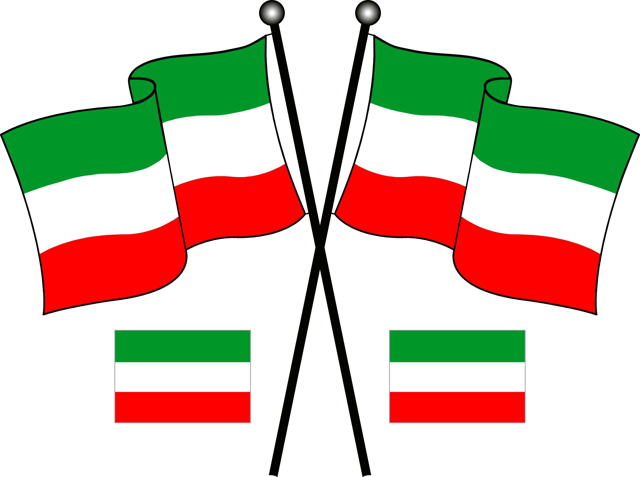 Sticker Flag Italy set of 3 310 x 210 mm – Bild 1