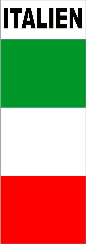 Aufkleber Flagge mit Schriftzug Italien 110 x 40 mm Fanartikel O – Bild 1