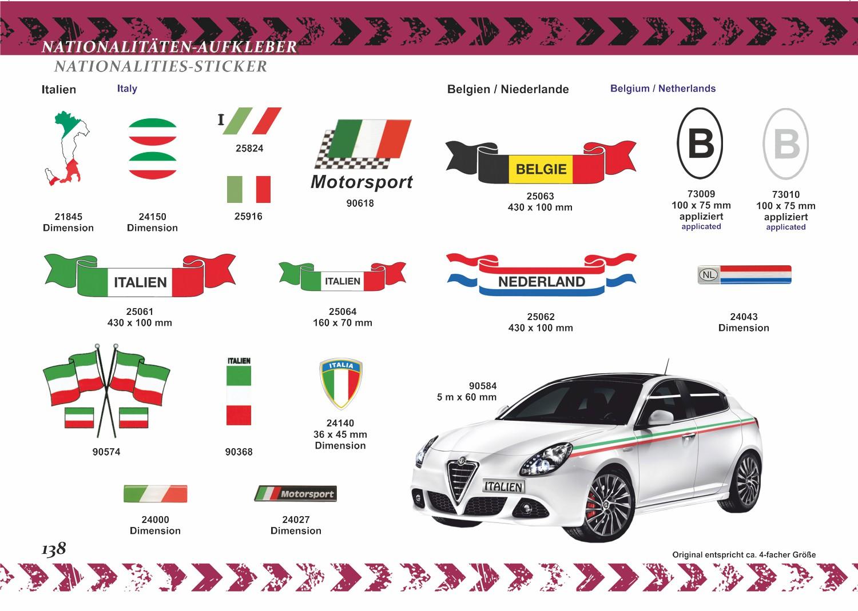 Aufkleber Flagge Italien 100 x 430 mm Deutschland Fanartikel Olympia – Bild 4
