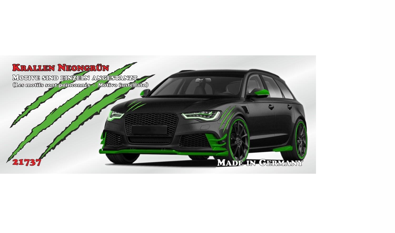 Autocollant griffes vert 300 x 200 mm – Bild 2