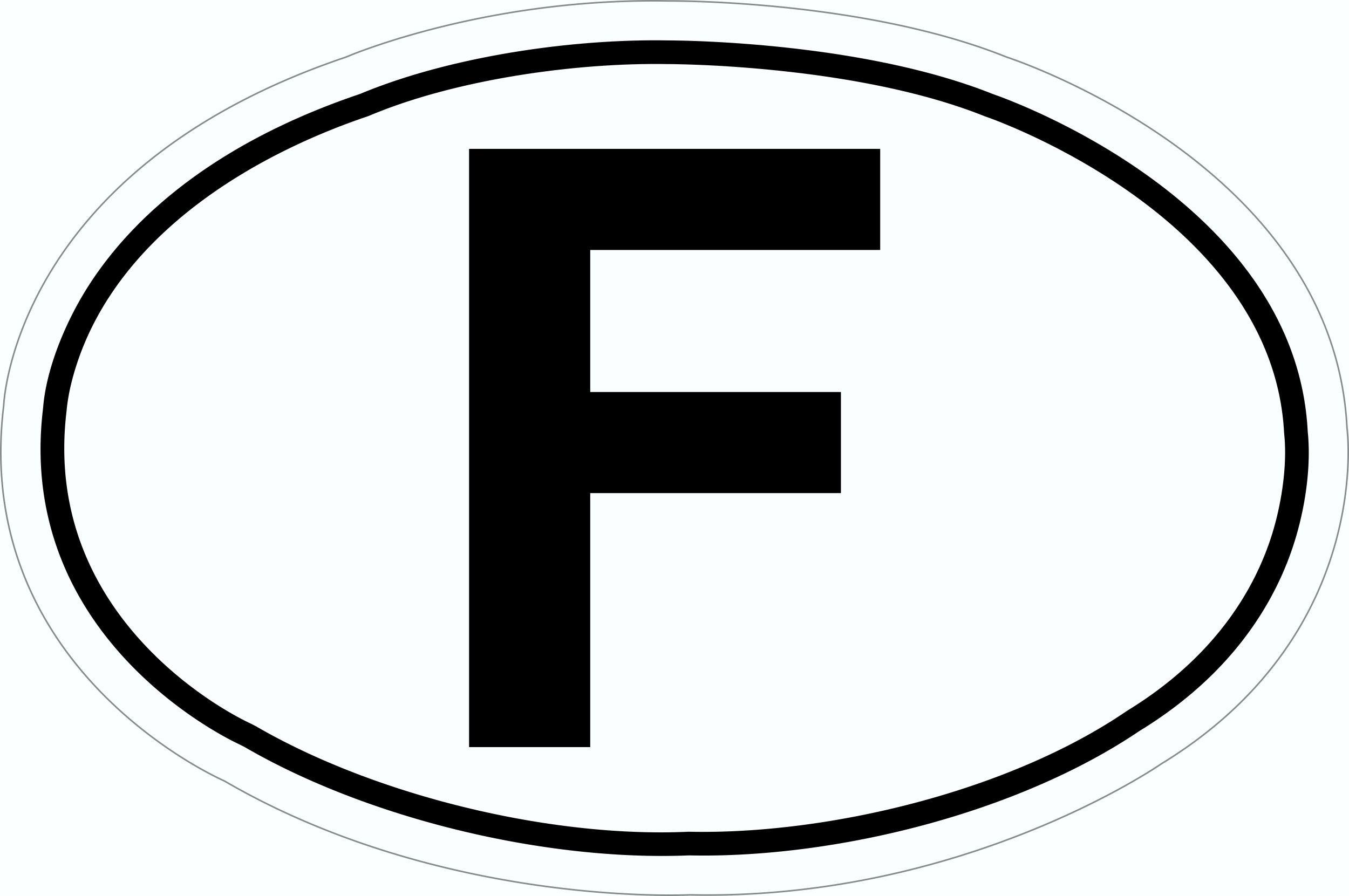 Sticker F-Plate 115 x 170 mm – Bild 1