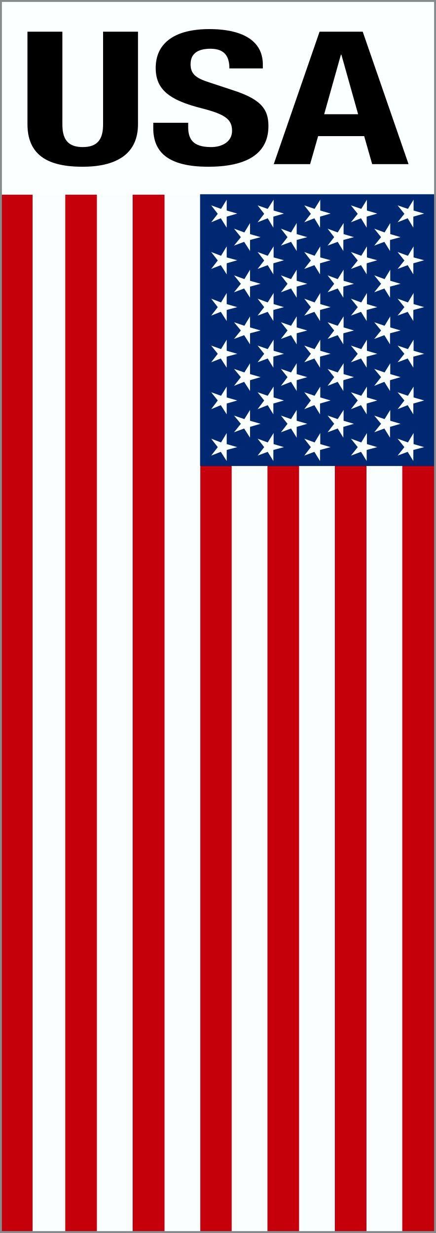 Aufkleber Flagge mit Schriftzug USA 110 x 40 mm – Bild 1