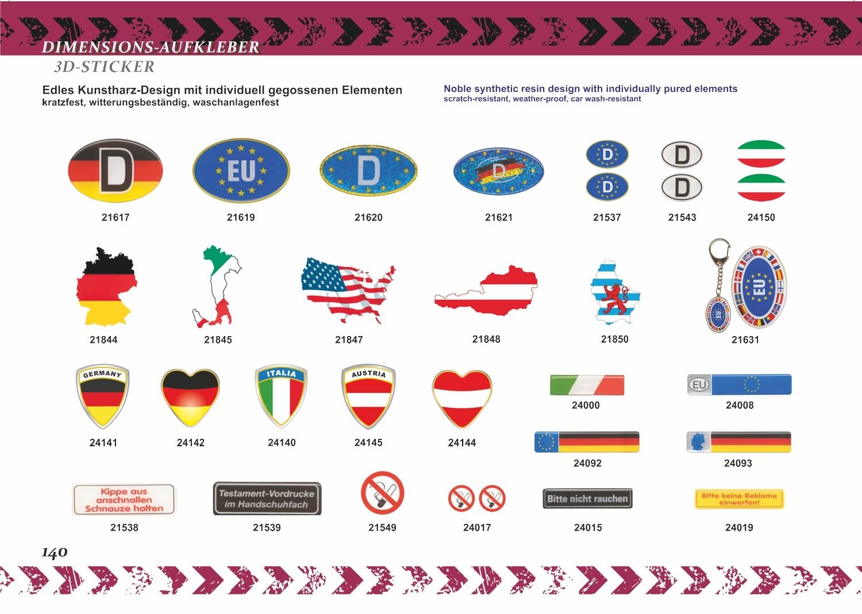 Aufkleber Luxemburg-Wappen 60 x 100 mm – Bild 6