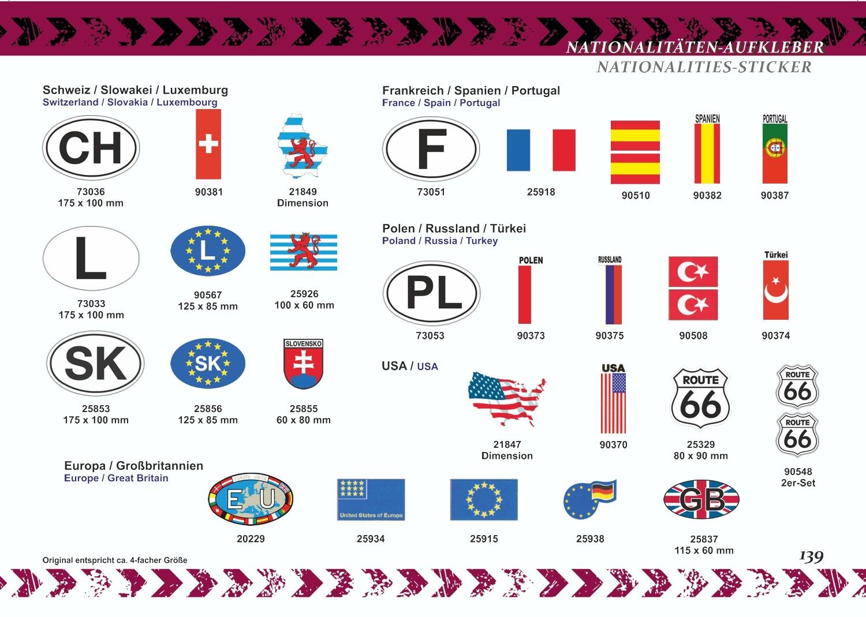 Aufkleber Luxemburg-Wappen 60 x 100 mm – Bild 5