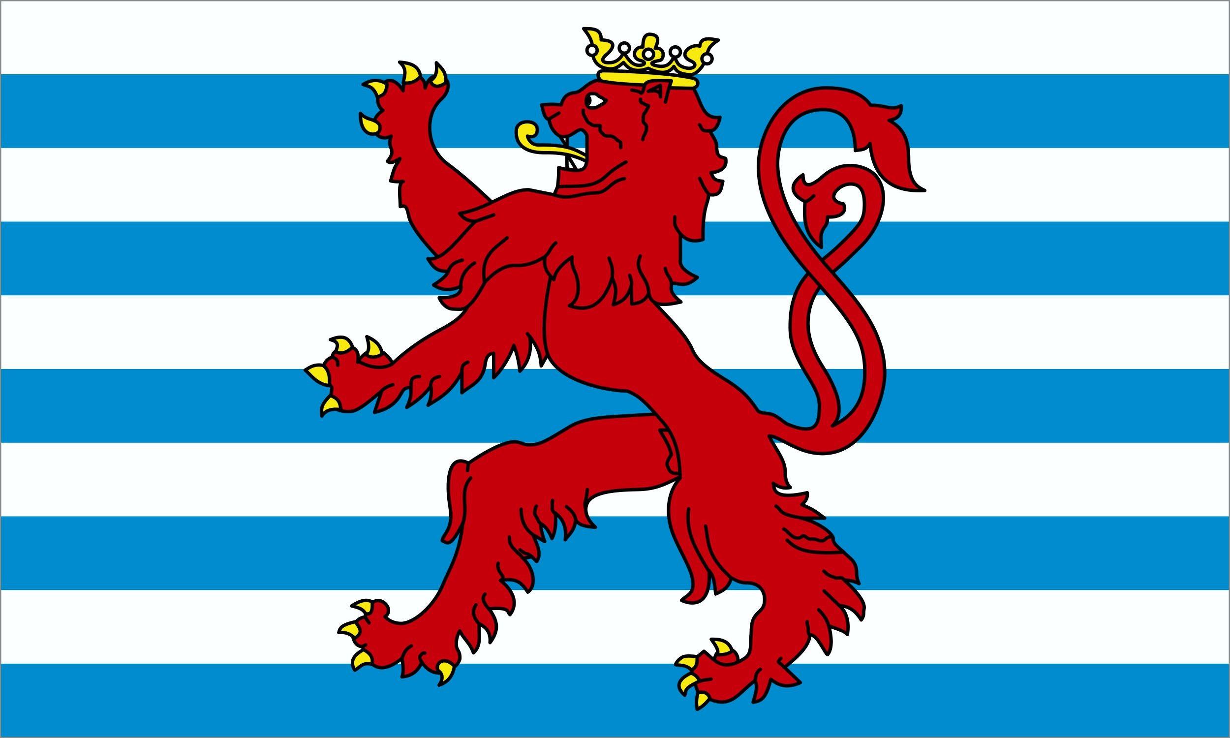 Aufkleber Luxemburg-Wappen 60 x 100 mm – Bild 1