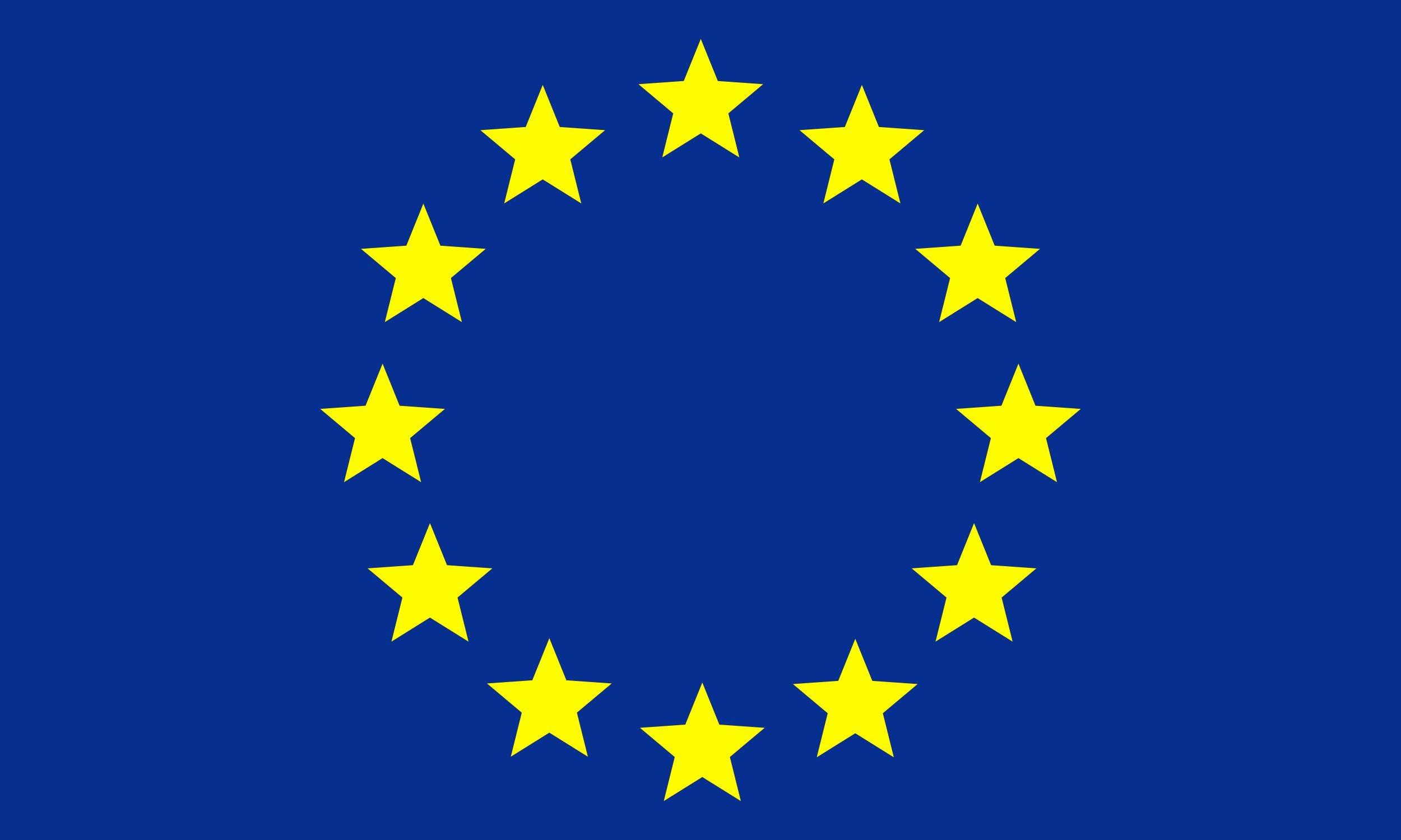 Aufkleber Flagge Europa 65 x 100 mm Deutschland Fanartikel Olympia – Bild 1