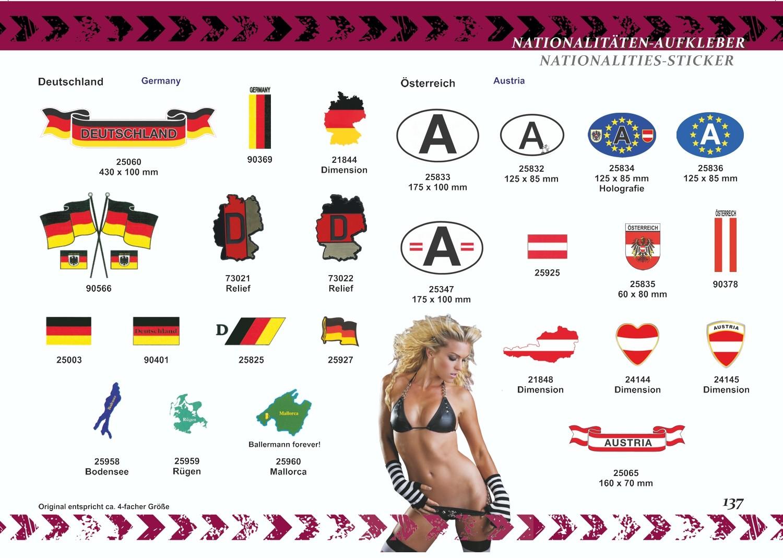 Aufkleber Flagge Europa Deutschland 60 x 80 mm Deutschland Fanartikel  – Bild 3