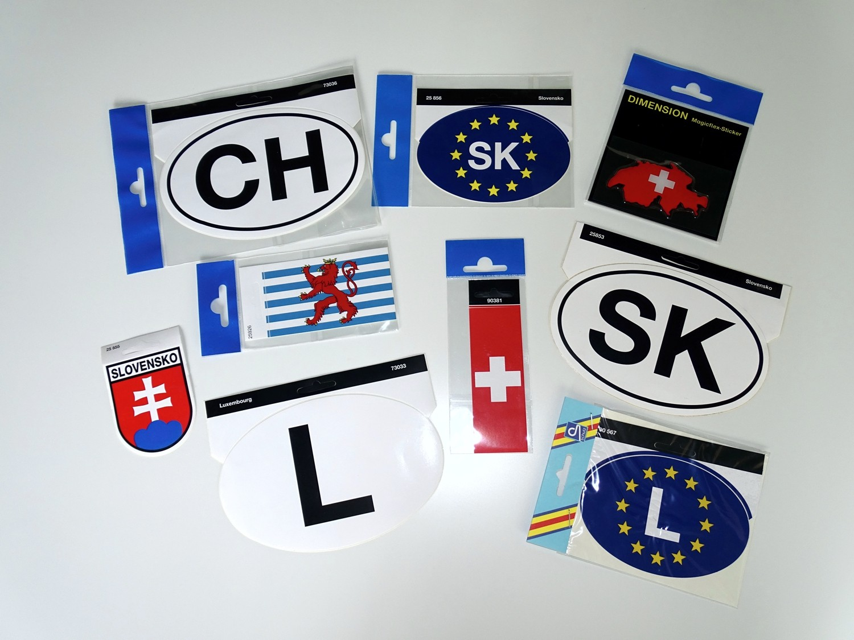 Aufkleber Flagge Europa Deutschland 60 x 80 mm Deutschland Fanartikel  – Bild 2