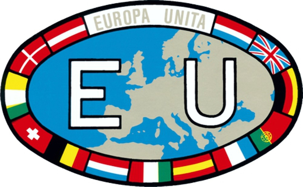Sticker EU with flags 100 x 155  mm – Bild 1