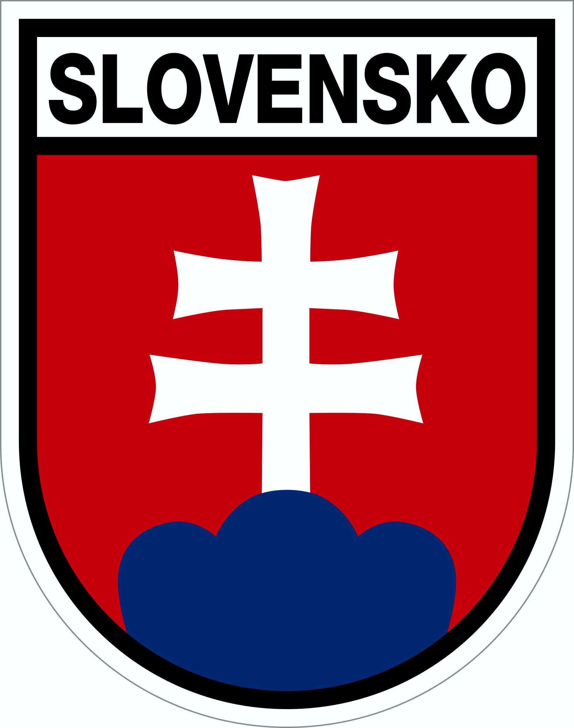 Aufkleber Wappen Slowakei 80 x 65 mm – Bild 1