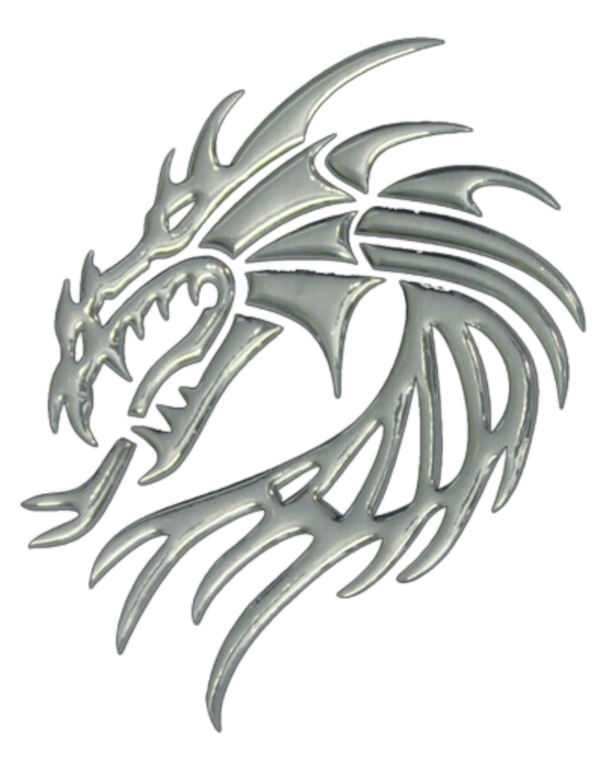 3D-Chrome-Sticker Dragon 195 x 155 mm – Bild 1