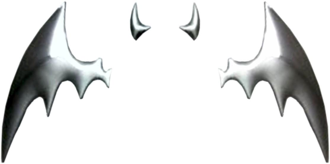 Autocollant 3D-chrome dimension chauve-souris argent 80 x 95 mm