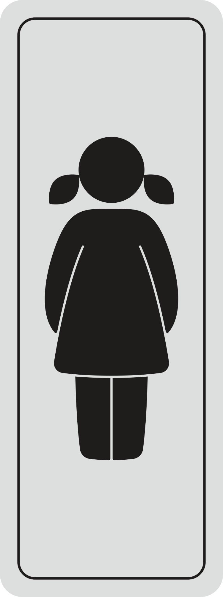 Türschild Frau selbstklebend 120 x 45 mm – Bild 1