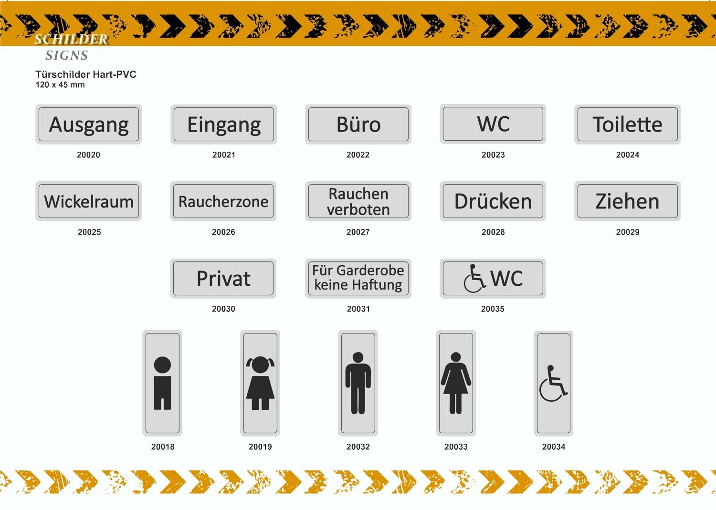 Türschild Behindertensymbol selbstklebend 120 x 45 mm – Bild 3