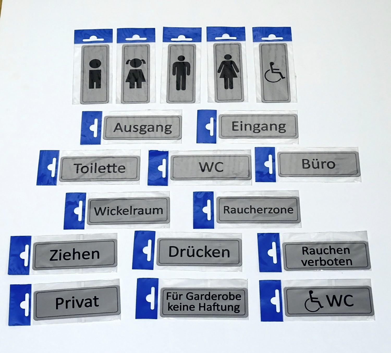 Türschild Behindertensymbol selbstklebend 120 x 45 mm – Bild 2