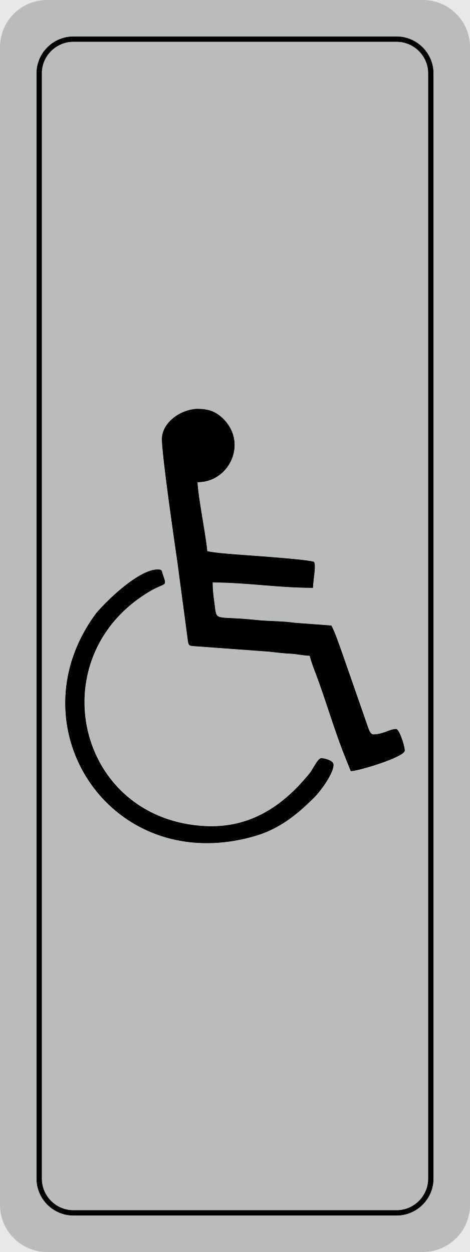 Türschild Behindertensymbol selbstklebend 120 x 45 mm – Bild 1